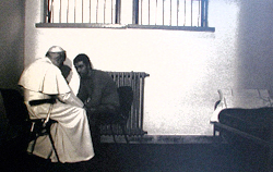 John Paul II forgives Mehmet Ali Agca