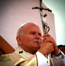Pope John Paul II with crucifix